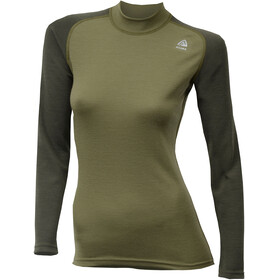 Aclima WarmWool Crew Neck Shirt Women Capulet Olive/Olive Night